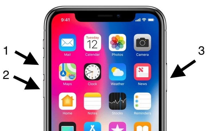 Force Restart iPhone X To Fix Attempting Data Recovery