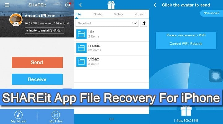 SHAREit Data Recovery For iPhone