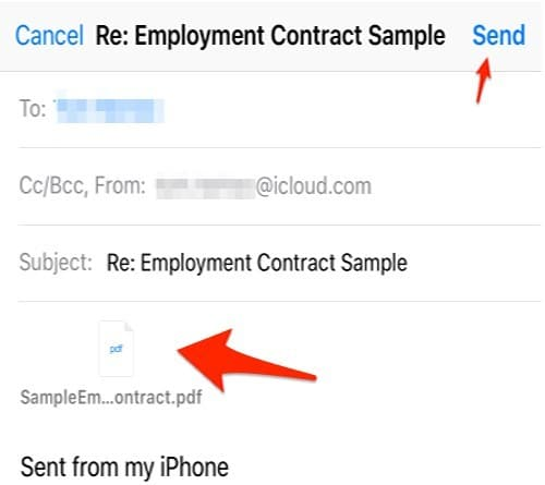 Transfer Files From iPhone to Computer Via Mail