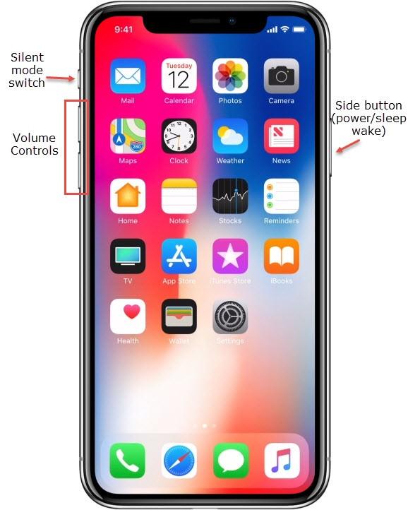 Restart iPhone XS (Max), XR, X