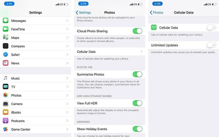 Turn ON Cellular Data