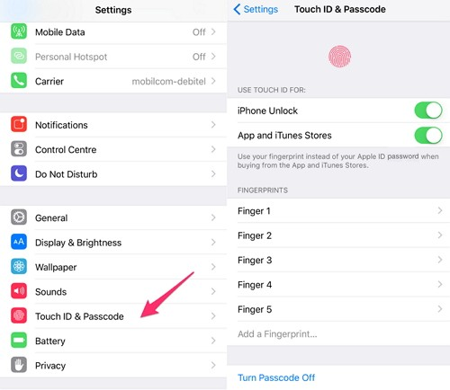 Fix Fingerprint Not Working By Turning Off Touch ID & Turn ON It Back Again