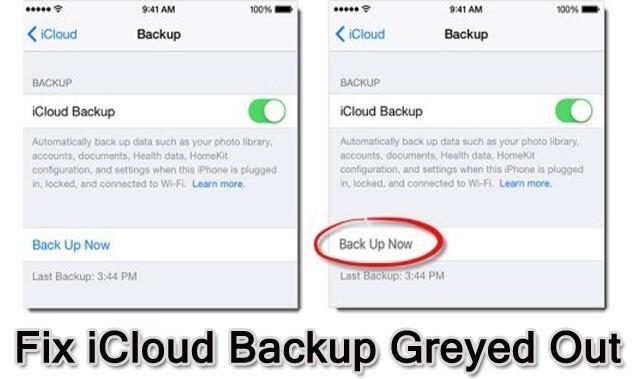 Fix iCloud Backup Greyed Out Problem