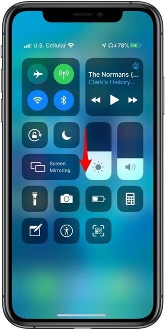 Adjust The Brightness of iPhone Via Control Center
