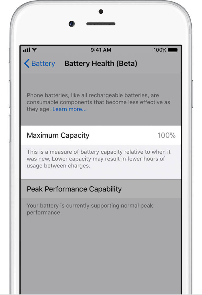 Check iPhone Battery Health