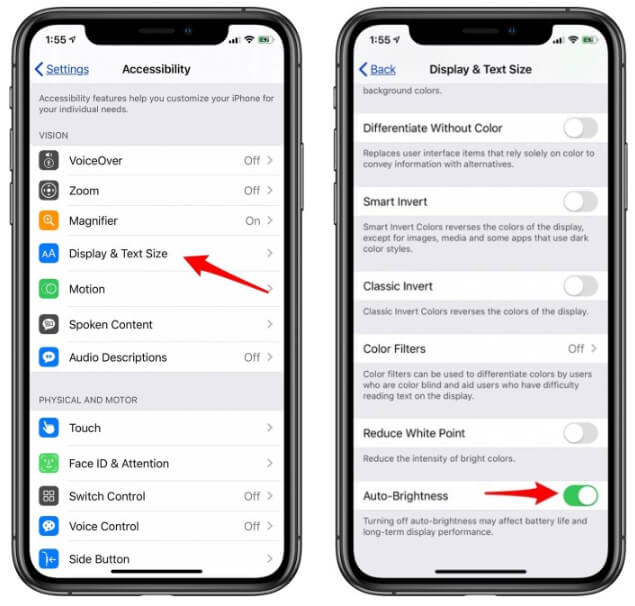 Turn On Auto Brightness On iPhone