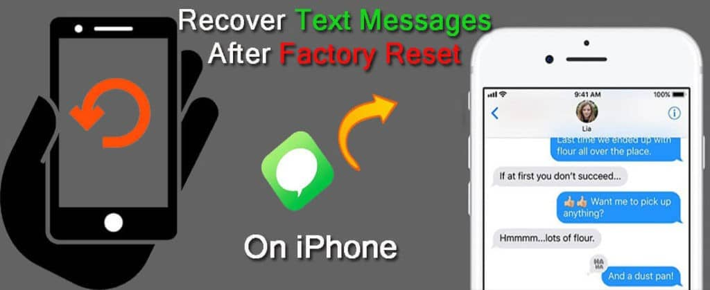 iPhone Text Messages Recovery After Factory Reset