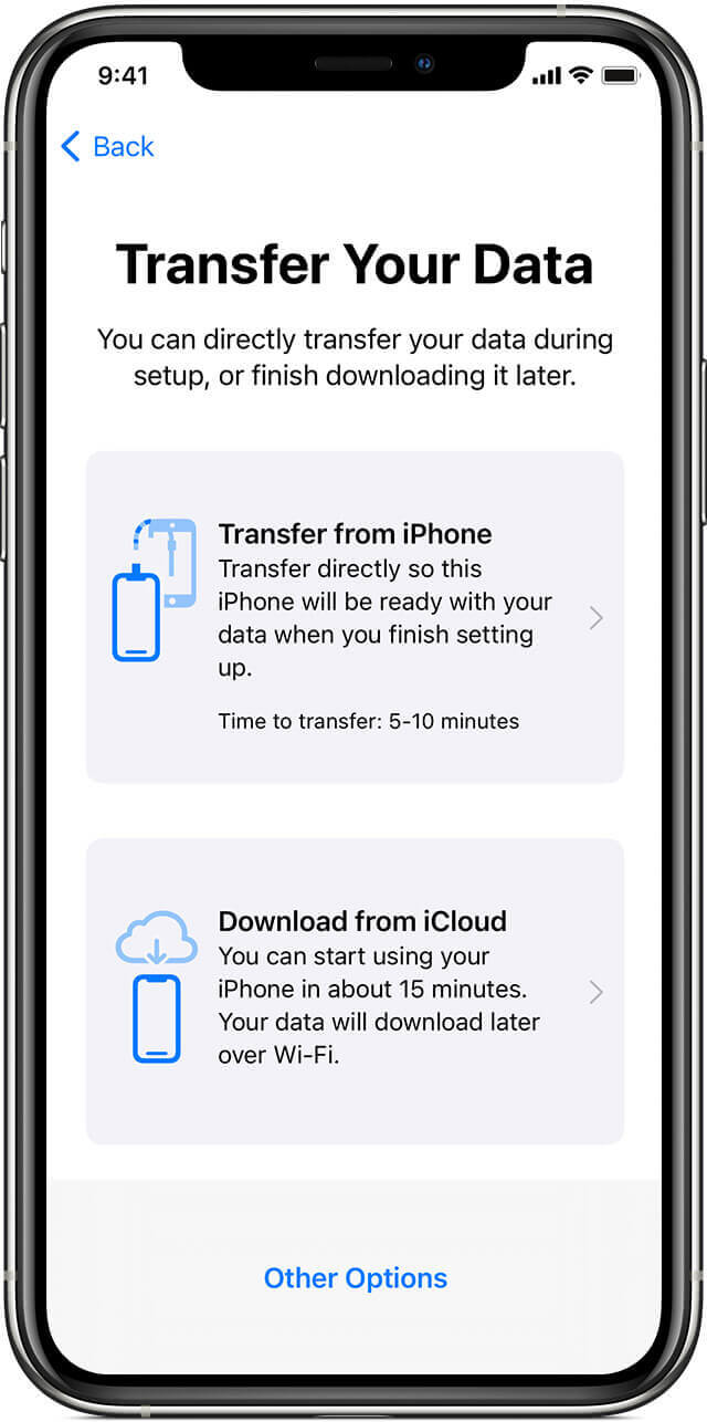 Use Device To Device Migration Feature For Directly Transferring Data To iPhone 12 Pro mini Pro Max