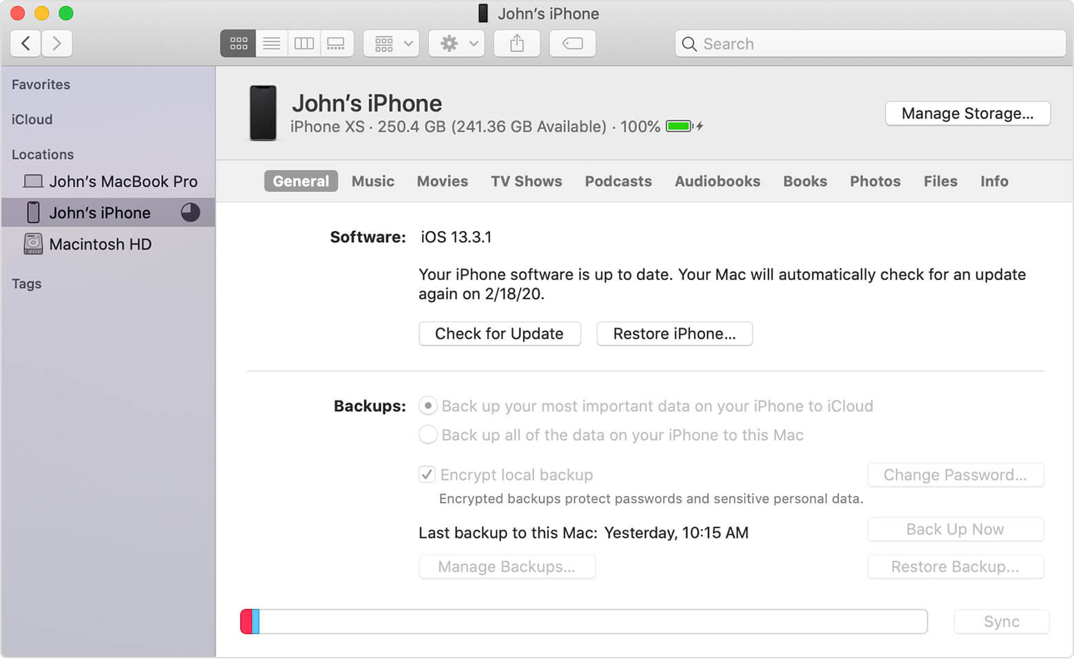 Backup iPhone 12 Series To iTunes On Mac