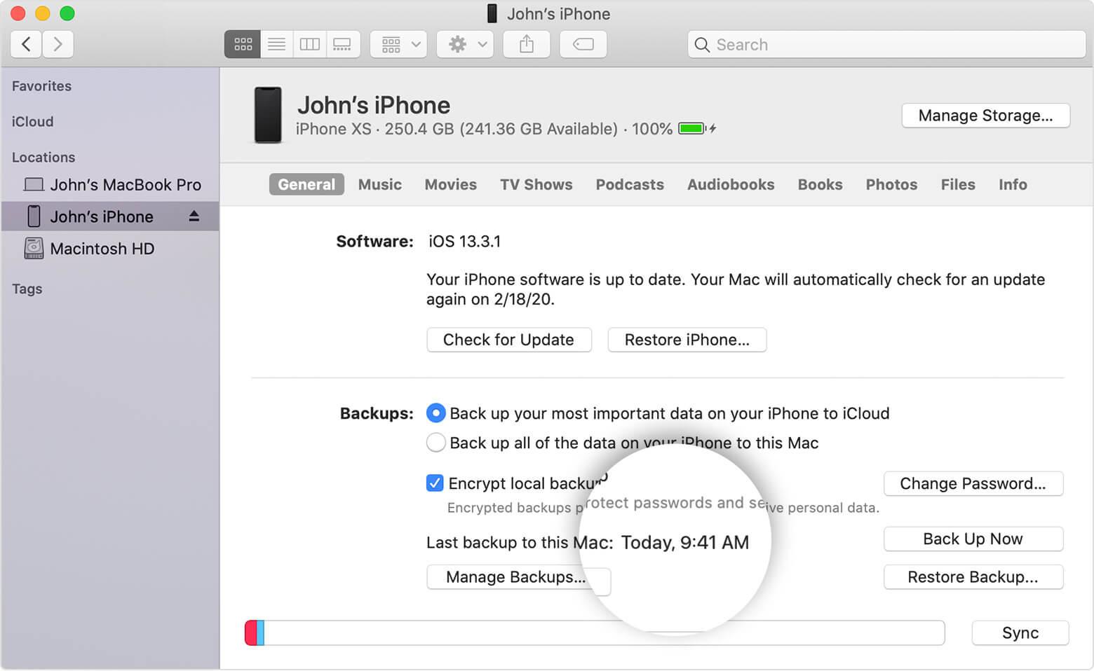 Backup iPhone 12, mini, 12 Pro, 12 Pro Max Data To iTunes on Mac