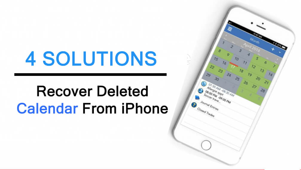 Learn To Recover Deleted Calendar From iPhone
