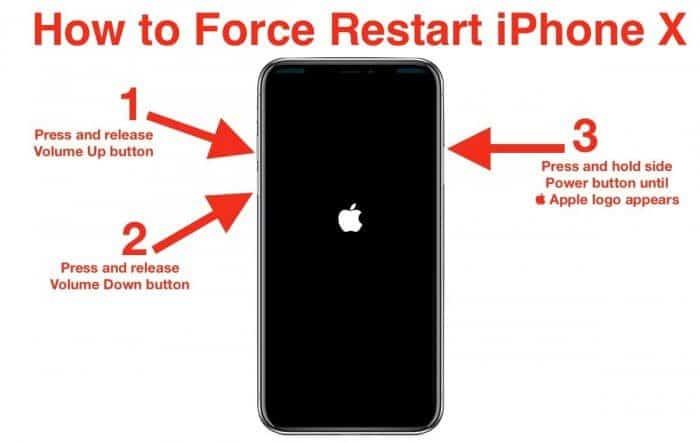 Hard Reset iPhone X or 8