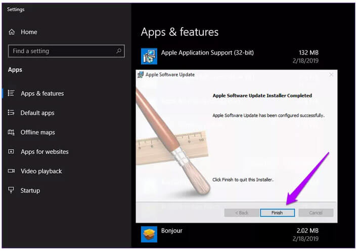 Repair Apple Software Update To Fix iTunes There Is A Problem With This Windows Installer Package 1