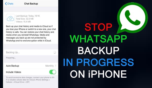 DIsable WhatsApp Backup In Progress On iPhone