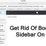 How Do I Get Rid Of Bookmark Sidebar On iPad?